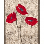 Red Poppies on Grey 2