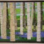 Birch with Wildflowers in Spring