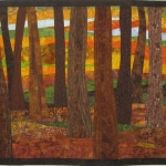 Autumn Trees 3 Art Quilt