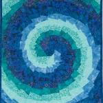 Teal Blue Spiral Art Quilt