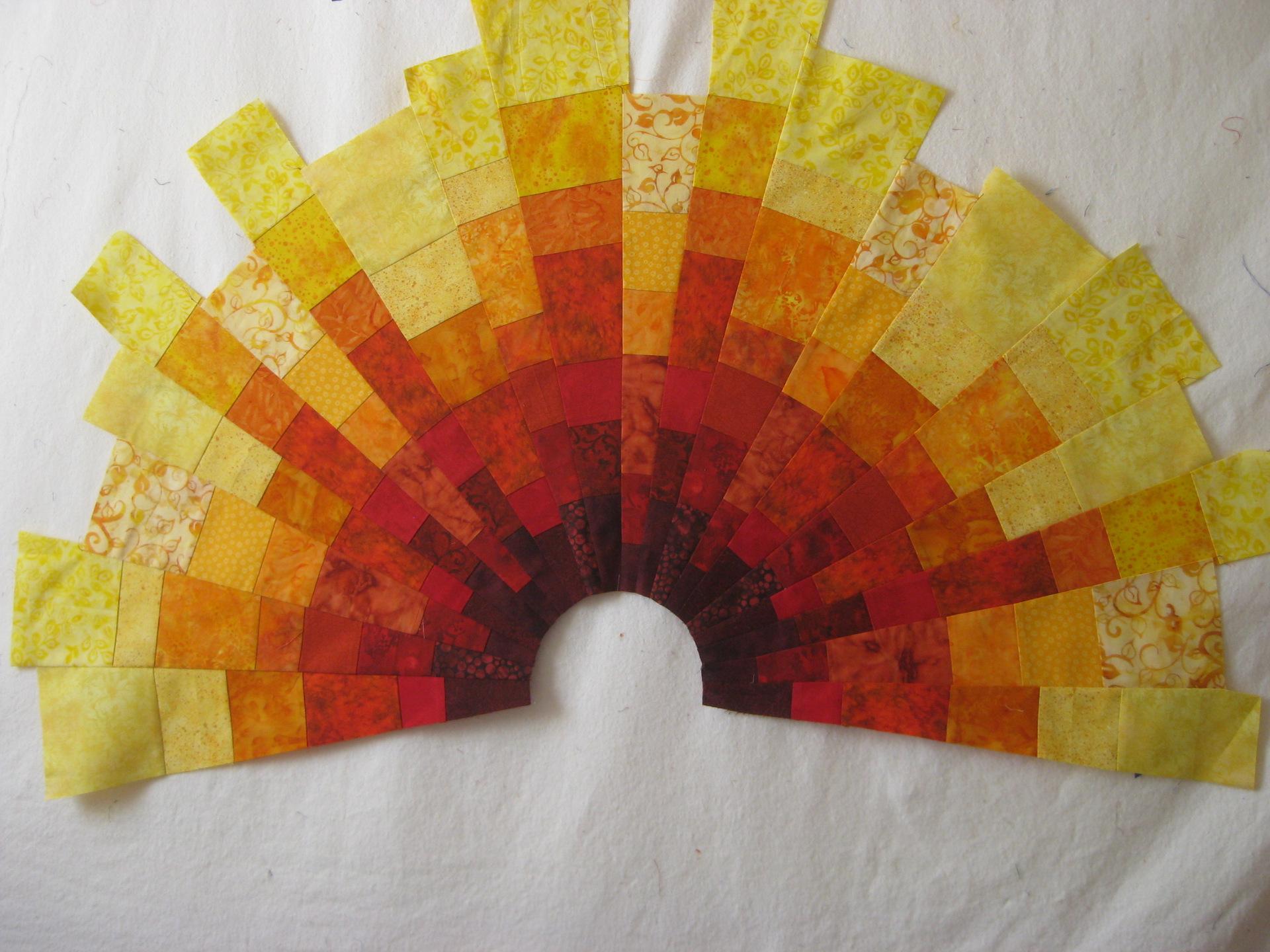 Famous Blocky Sun Art Quilt - Art Quilts by Sharon VZ67
